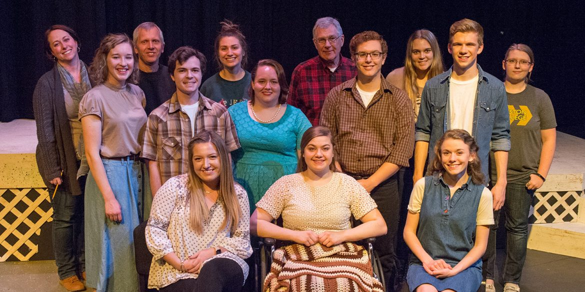cast photo from Hesston College production of And They Dance Real Slow in Jackson