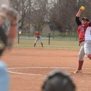 Hesston College softball action photo - Ashley Yasin