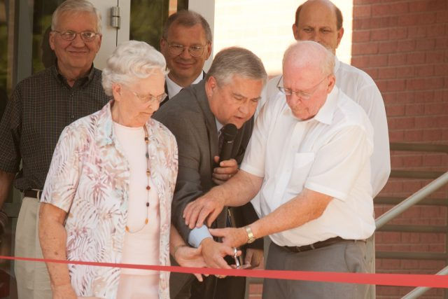 Friesen ribbon cutting