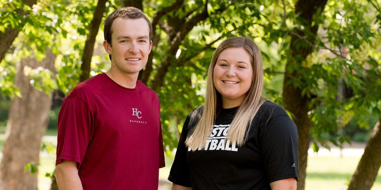Jeremy Deckinger and Ashley Yasin, Hesston College athletes of the year 2017-18
