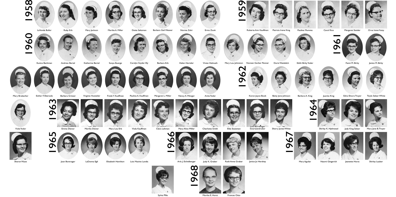 Composite photo of Hesston College - Kansas City General Hospital nursing graduates