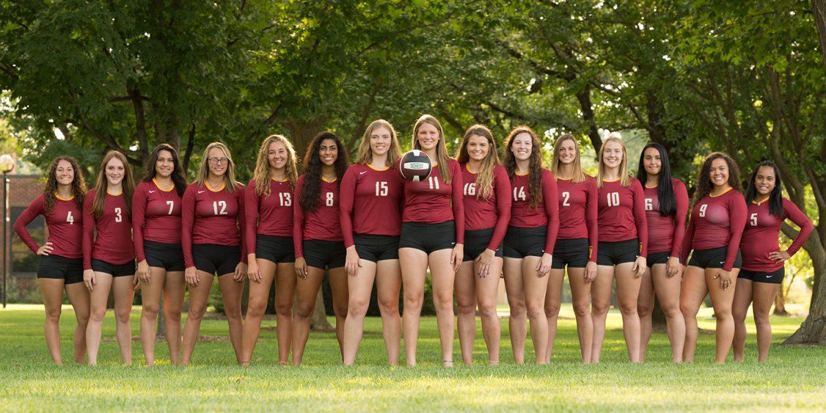 2018 Hesston College volleyball team