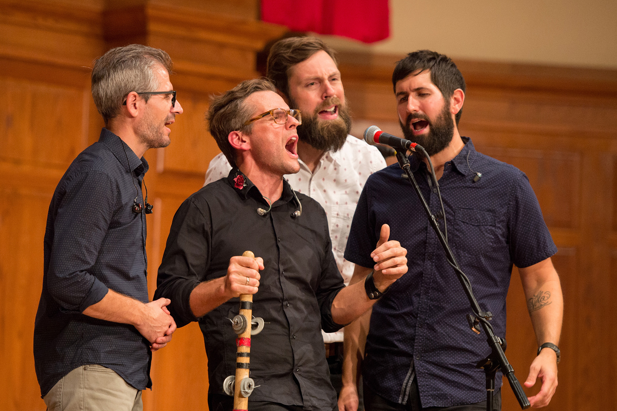 The Steel Wheels, a Virginia-based bluegrass band, performed a concert Saturday evening.