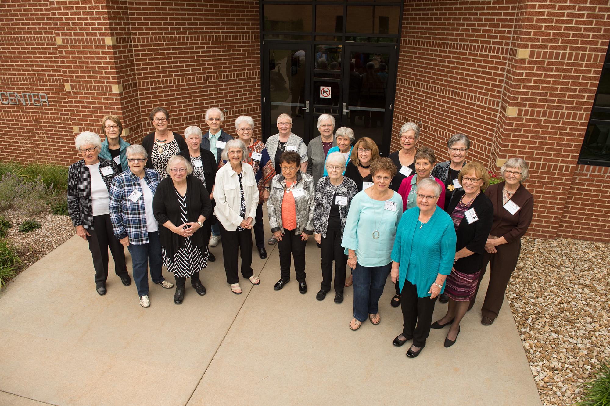 Hesston College - Kansas City General Hospital nursing alumni gather for a photo.