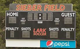Sieber Field scoreboard