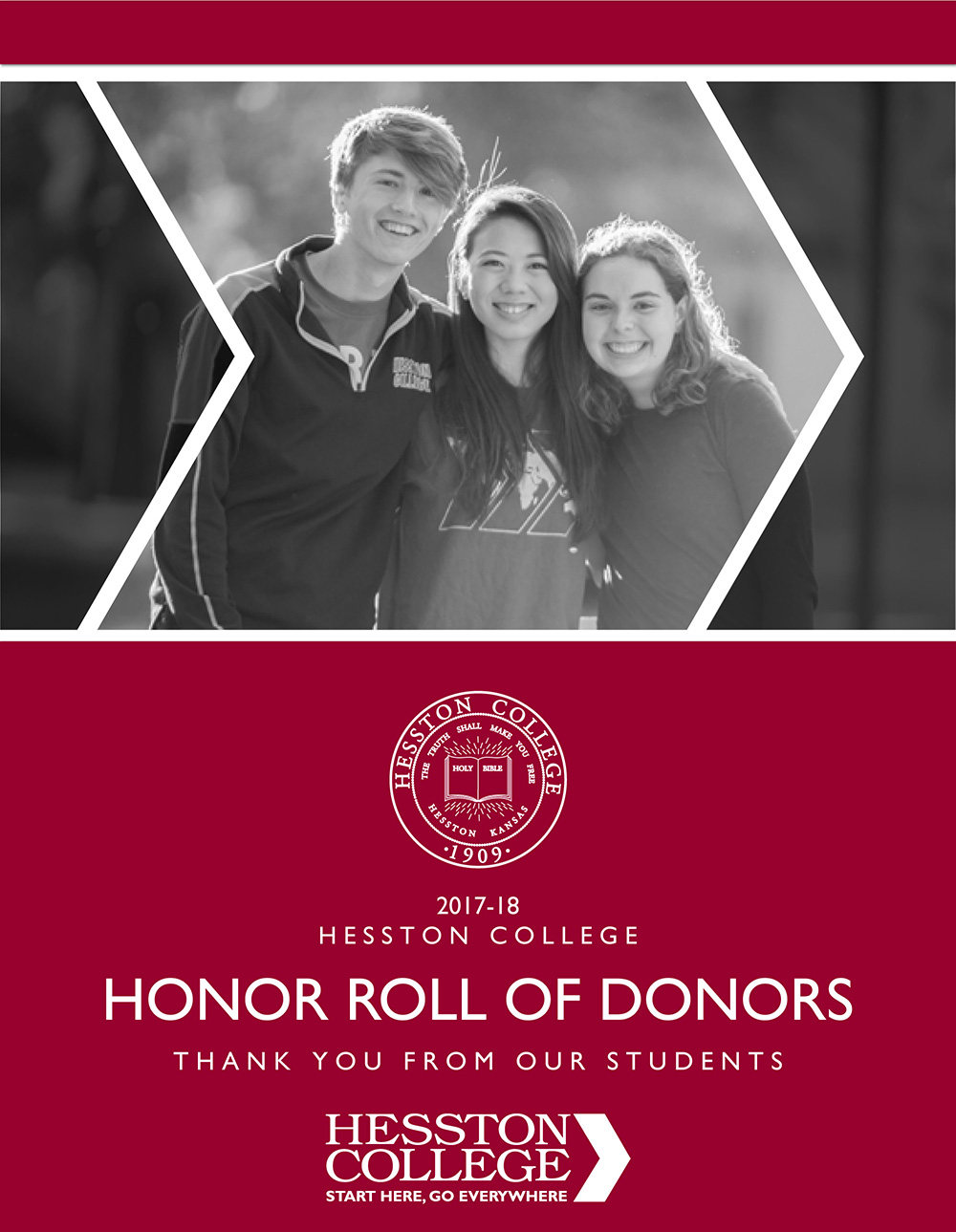 2017-18 Hesston College Honor Roll of Donors cover