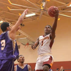 Hesston College men's basketball action photo - Danny Bradley