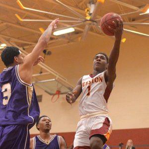 Hesston College men's basketball action photo - Danny Bradley