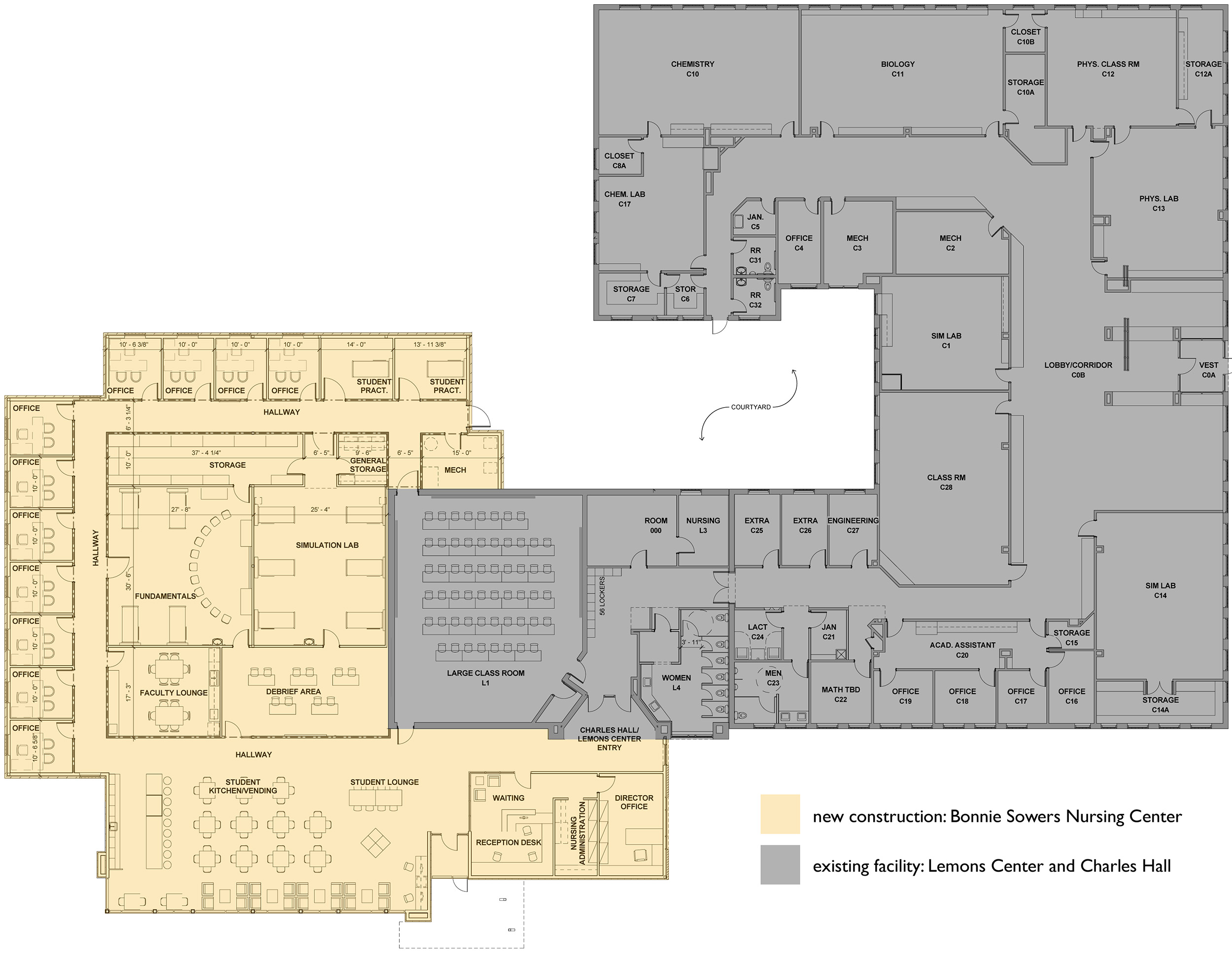 Bonnie Sowers Nursing Center floor plan