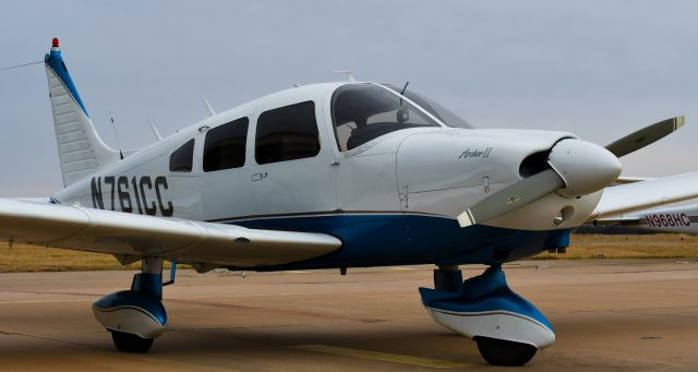 A newly purchased Piper Archer aircraft is part of the aviation fleet.