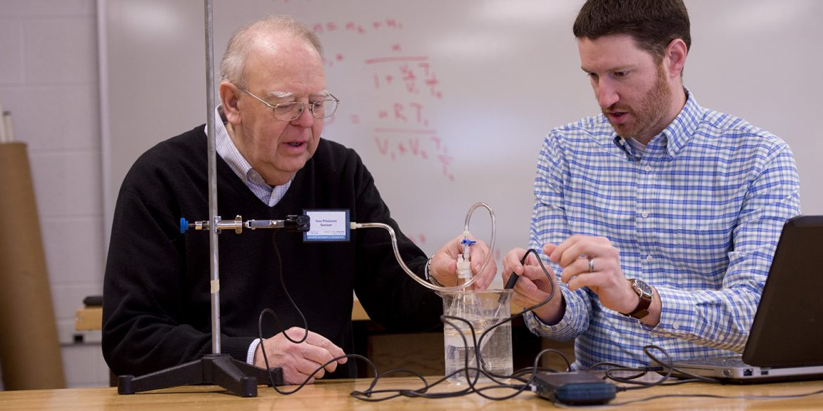 "Hesston College faculty emeritus, Nelson Kilmer, and physics professor, Joel Krehbiel, collaborated on two articles that were published in the January issue of ""The Physics Teacher"" journal."