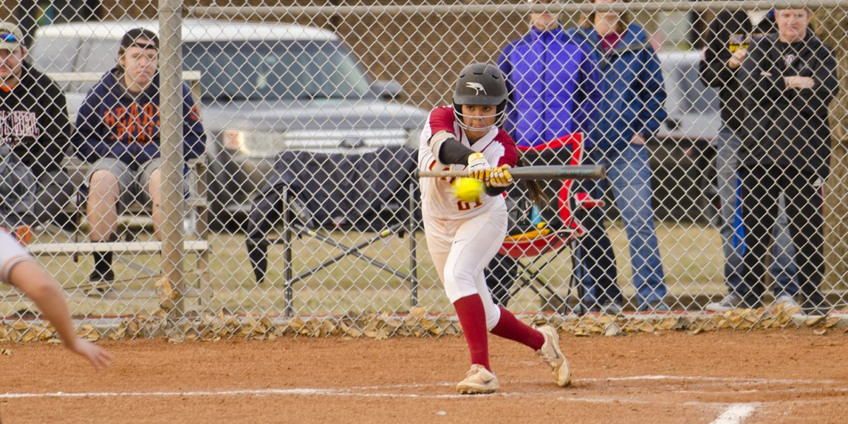 softball action photo