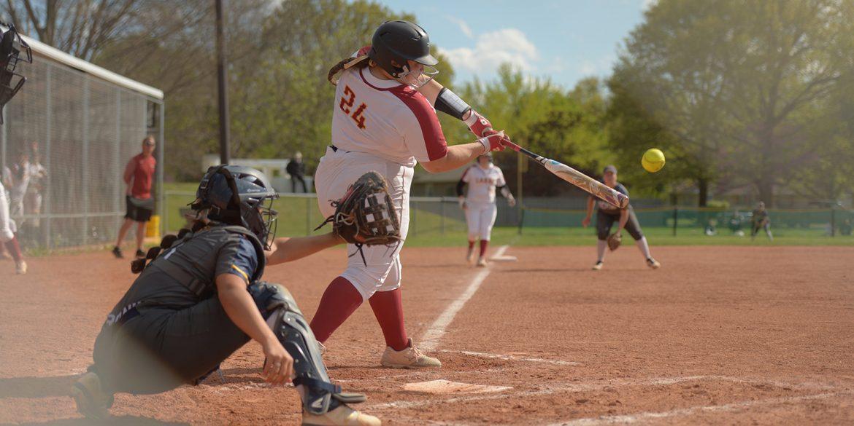 Hesston College softball action photos - Amy Bretado