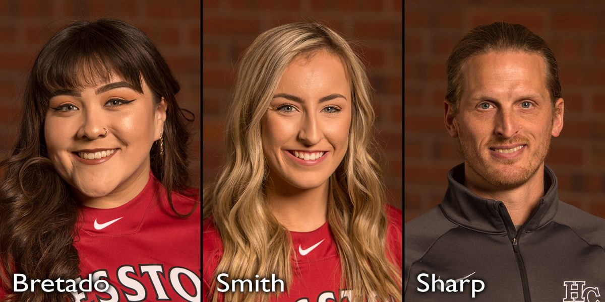Amy Bretado, Chelsie Smith, Coach Andrew Sharp