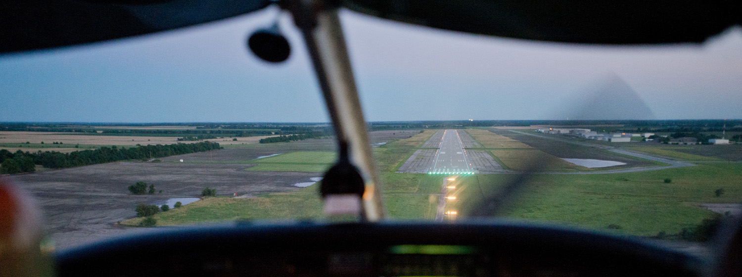 Landing at Newton City/County Airport
