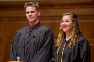 Graduates Will Gaby (Goshen, Ind.) and Cassidy King (Cochranville, Pa.) were nominated by faculty and staff and voted by their classmates as the graduate speakers to reflect on their Hesston Experience.