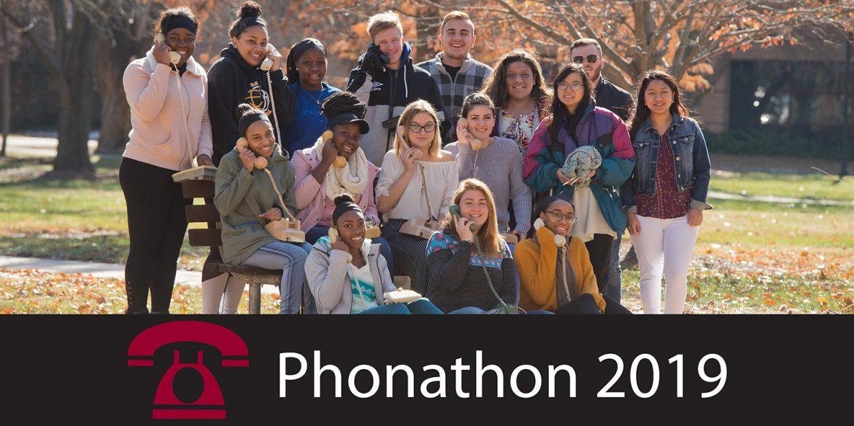 Hesston College phonathon callers