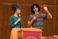 Siblings Makayla Ladwig '15 and David Ladwig '18 share about their callings as a nurse (Makayla) and music producer (David) at forum.