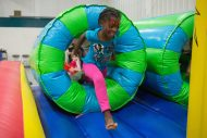 Alumni and community children enjoyed inflatables, face painting and more at the Kids' Festival.