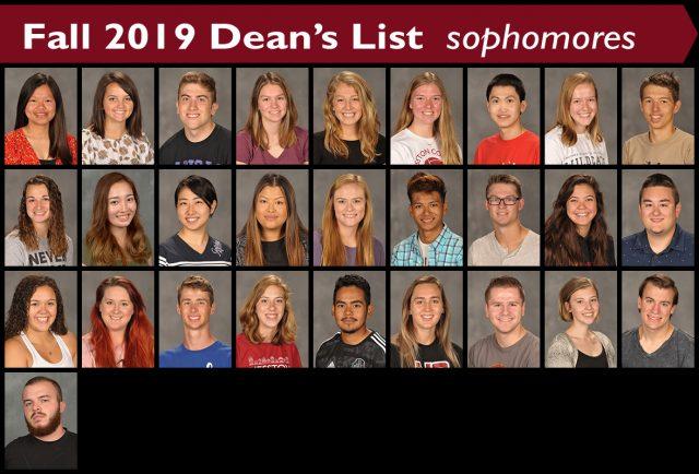 Fall 2019 Dean's List - sophomores