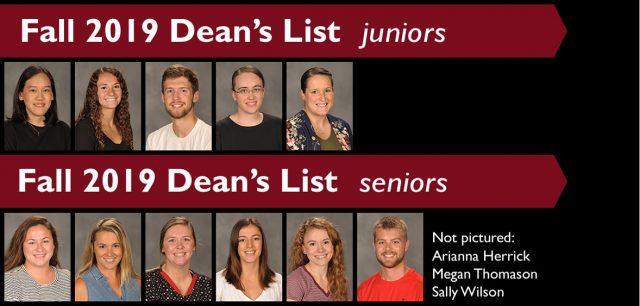 Fall 2019 Dean's List - upperclassmen