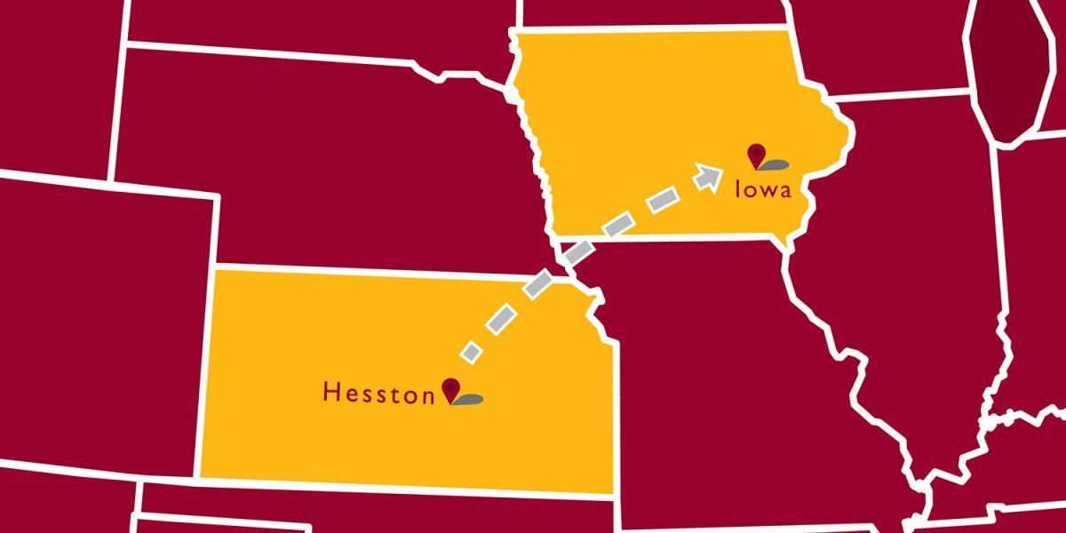 Explore Kansas in southeast Iowa!