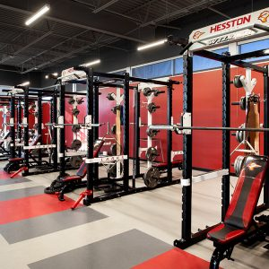 Hesston College weight room and fitness center