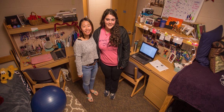 women's dorm room in Erb Hall