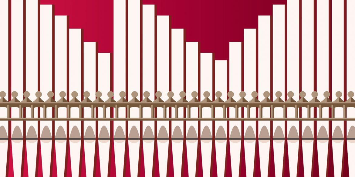 organ pipes graphic