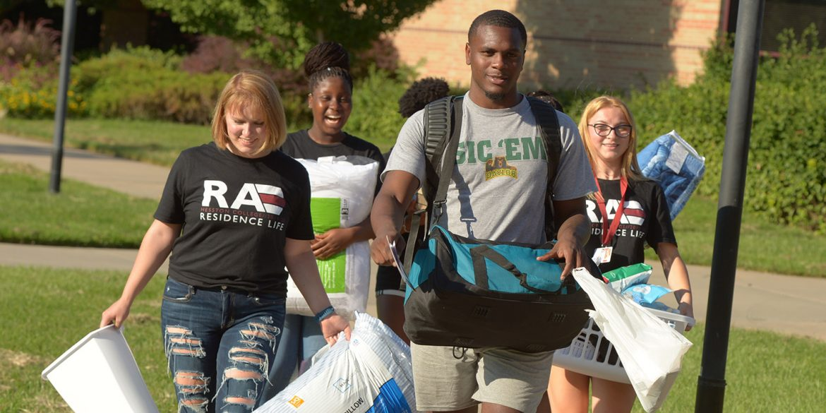 Students moving into the dorms 2019