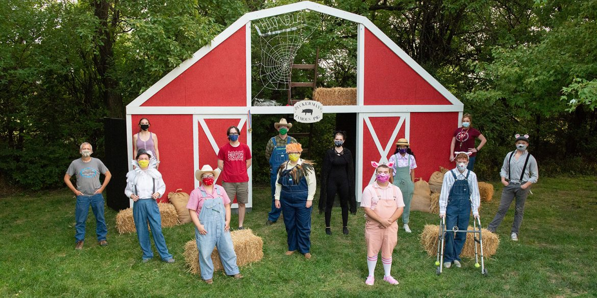 cast photo from fall 2020 production of Charlotte's Web