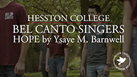 video link - Bel Canto Singers perform Hope by Ysaye M. Barnwell