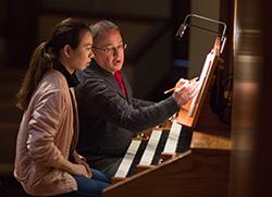 Ken Rodgers teaches organ
