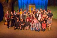 Cast and crew photo from spring 2020 Hesston College Theater production of Tuck Everlasting