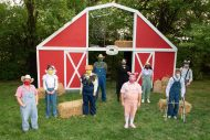 cast photo from the fall 2020 Hesston College Theatre production of Charlotte's Web