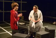 photo from the fall 2019 Hesston College Theatre production of The Curious Case of the Dog in the Night-Time