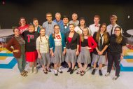 cast and crew photo from the fall 2018 Hesston College Theatre production of The Misanthrope