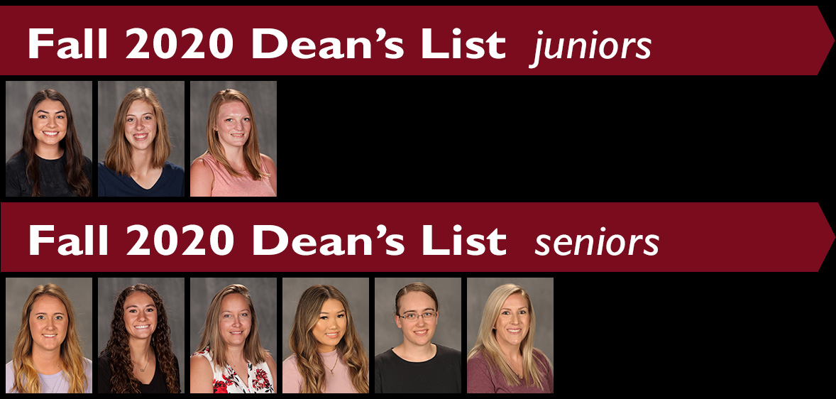 Fall 2020 Hesston College Dean's List - juniors and seniors