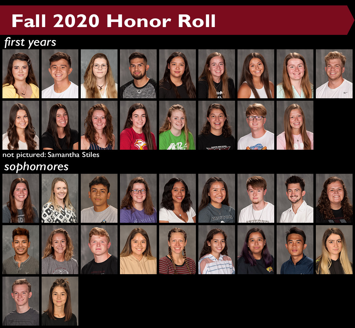 Fall 2020 Hesston College Honor Roll