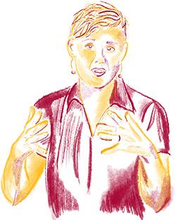 drawing of Jessica Schrock-Ringenberg