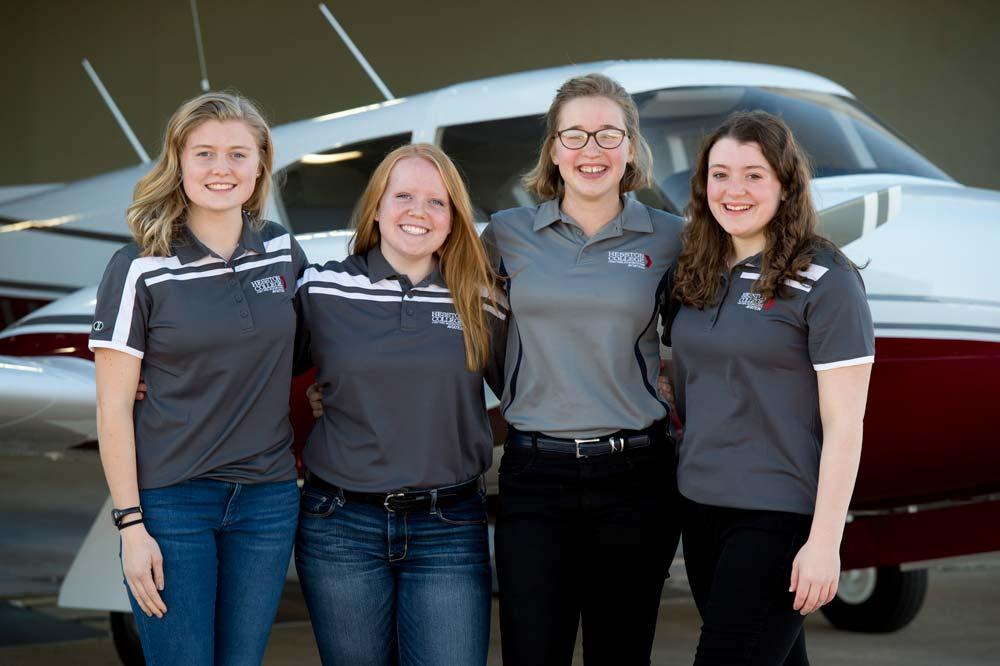 Hesston College Aviation pilot program students