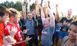 Students compete in Rock, Paper, Scissors, Cheer at Mod Olympics