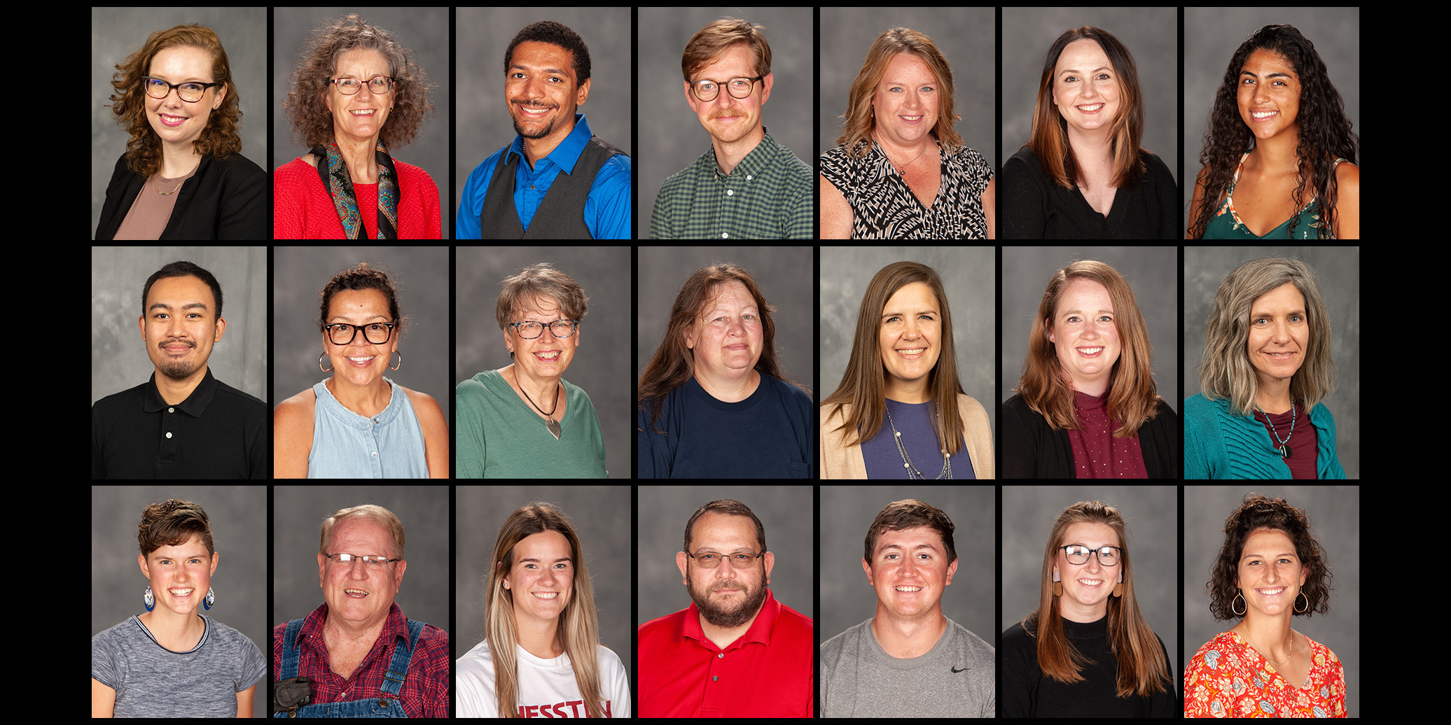 A composite photo of new faculty and staff
